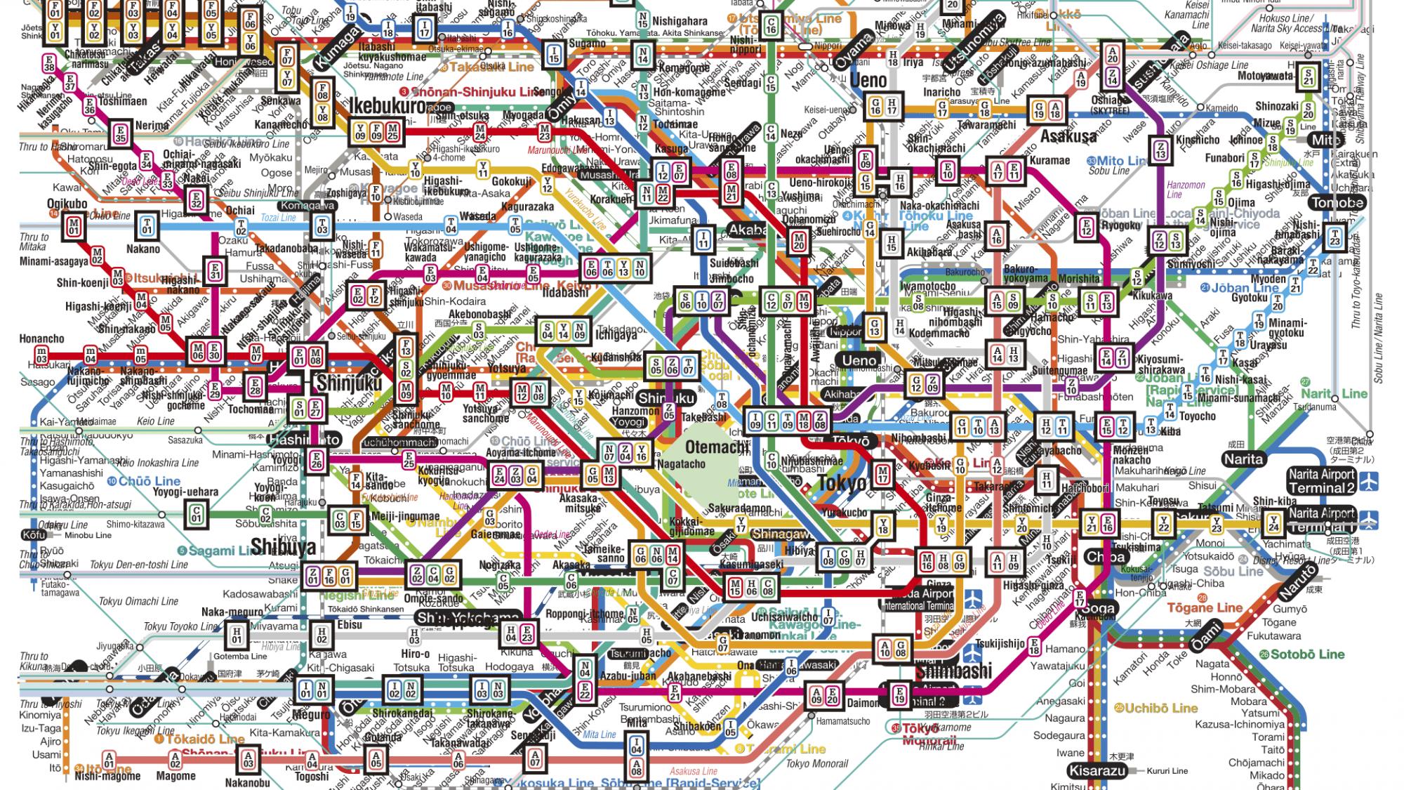 Tokyo Subway Maps.Inbetween The Lines Of Tokyo S Jr Metro Maps Randomwire