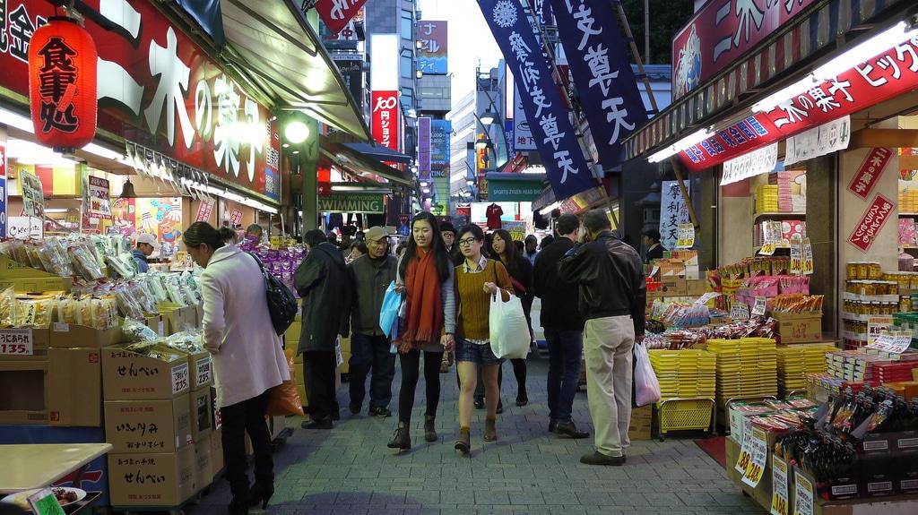 Ameyoko Market in Ueno