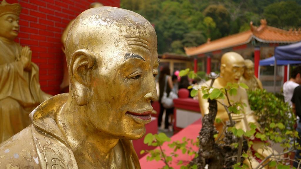 Bald Buddha Statue