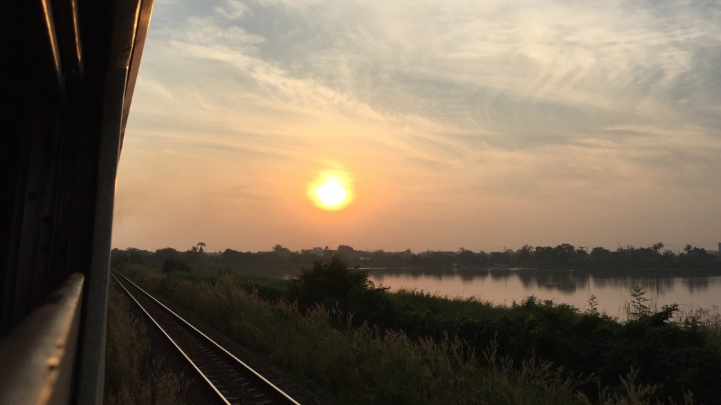 Train to Cambodia Sunrise