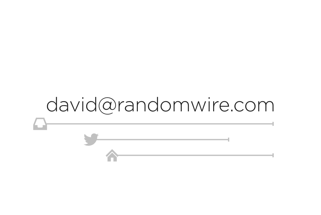Minimal Business Card Design – Randomwire
