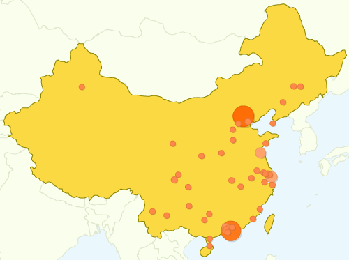 Google Analytics China Map Overlay