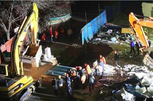 China Subway Collapse