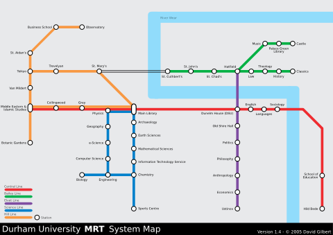 Durham Tube Subway Metro Underground Map Design Randomwire
