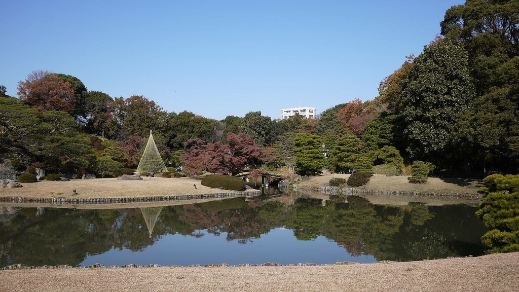 Rikugien Garden Pond