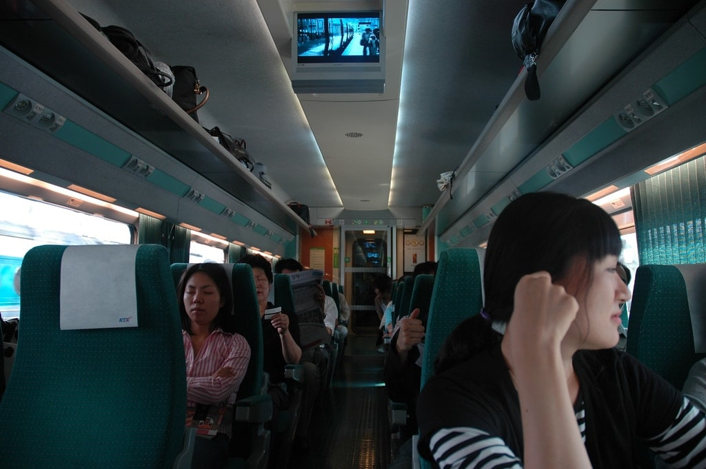On the KTX to Busan