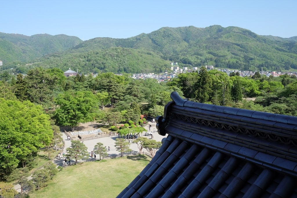 View from Aizu Castle