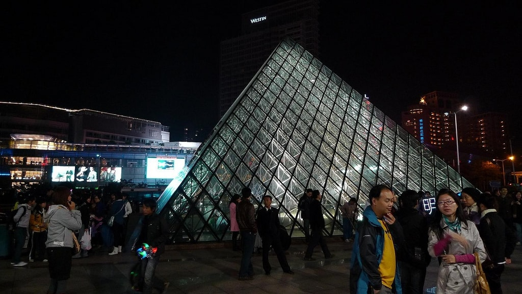 Fake Louvre Pyramid