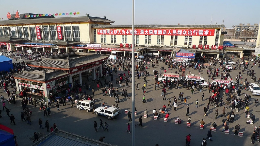 Xi'an Train Station Spring Festival Rush