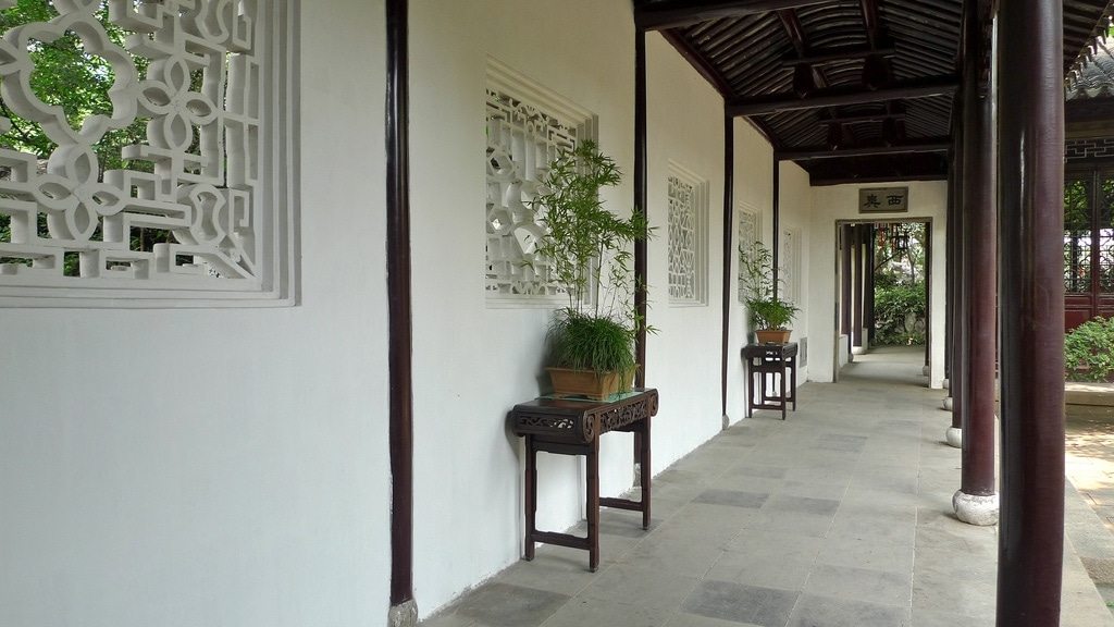Tranquil Garden Walkway