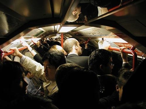 Rush hour Crush, London Tube