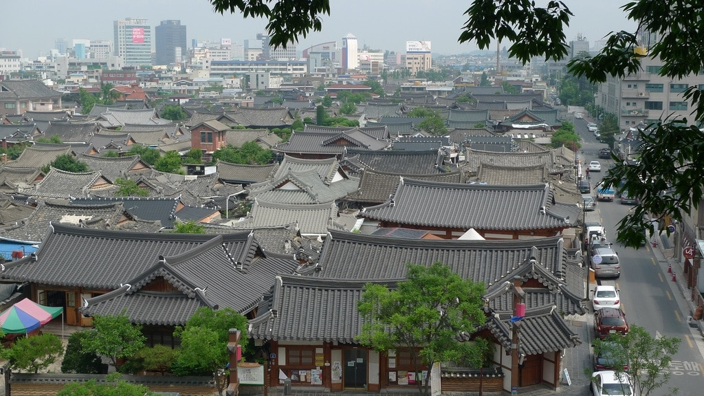 Overlooking Jeonju Hanok Village