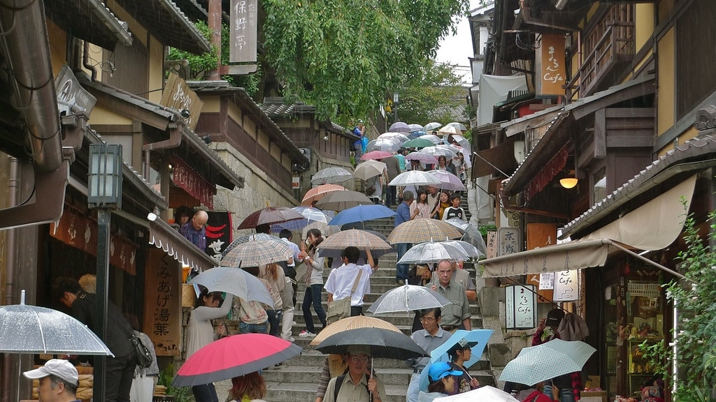 Higashiyama In The Rain