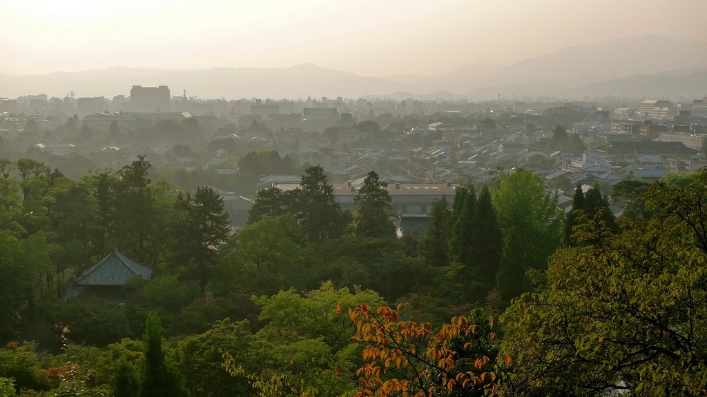 Overlooking Higashiyama at Dusk