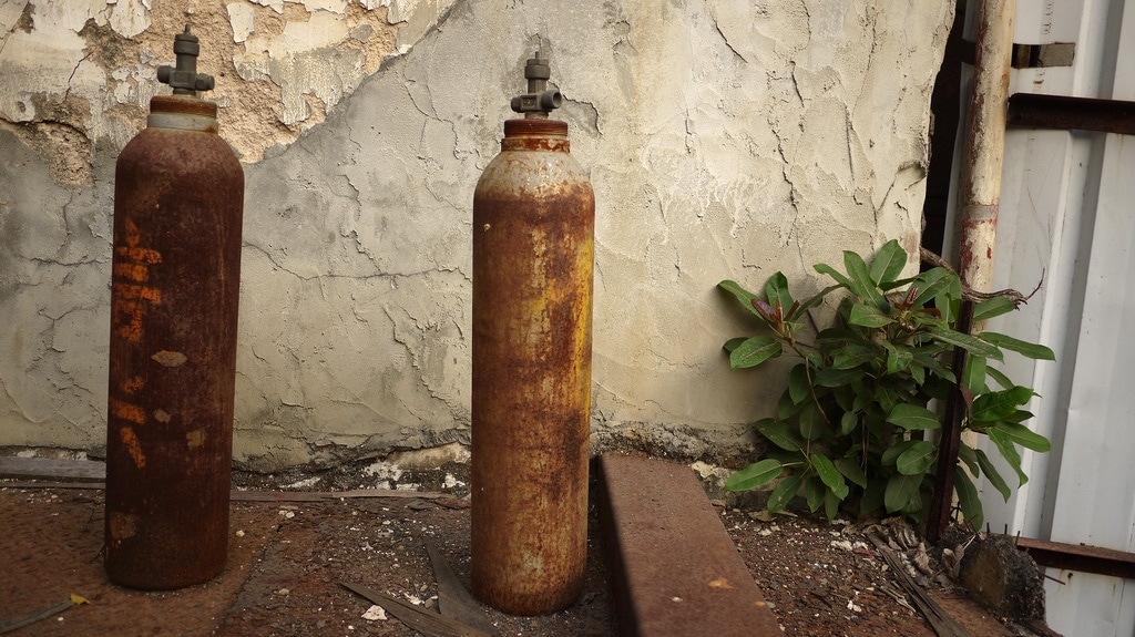 Rusting Gas Cylinders