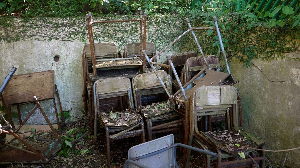 Rotting Desks & Chairs