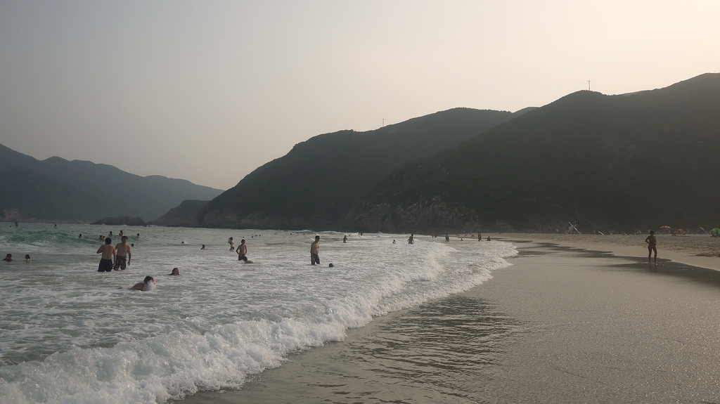 Tai Wan Beach at Sunset