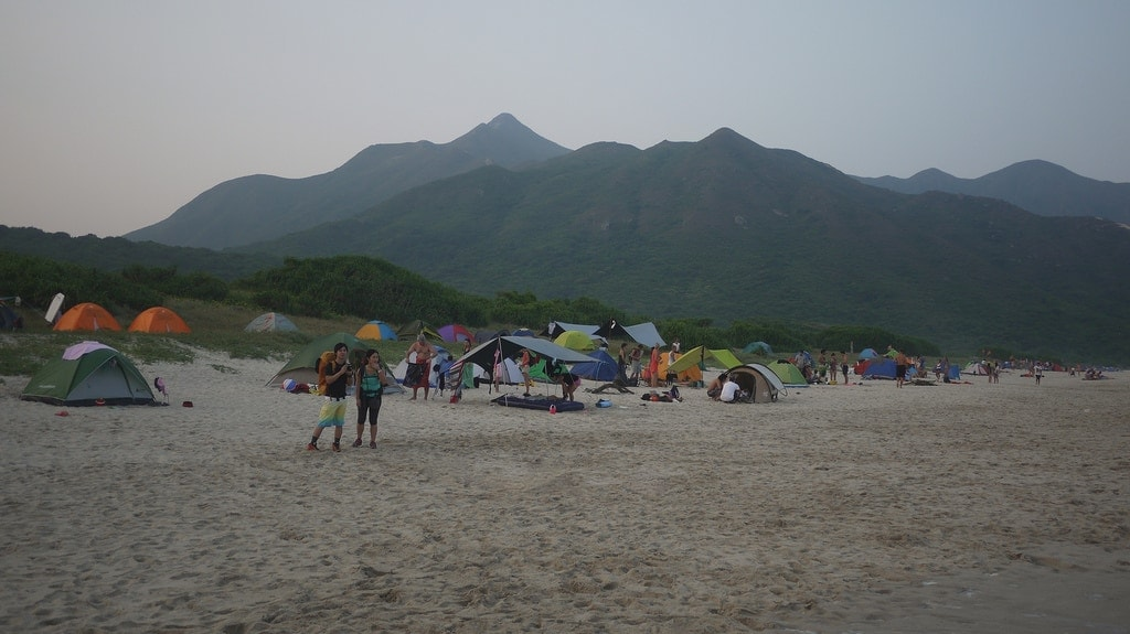 Camping on Tai Wan Beach