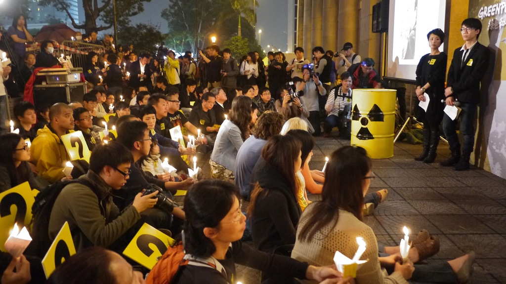 Vigil for Japan in Hong Kong