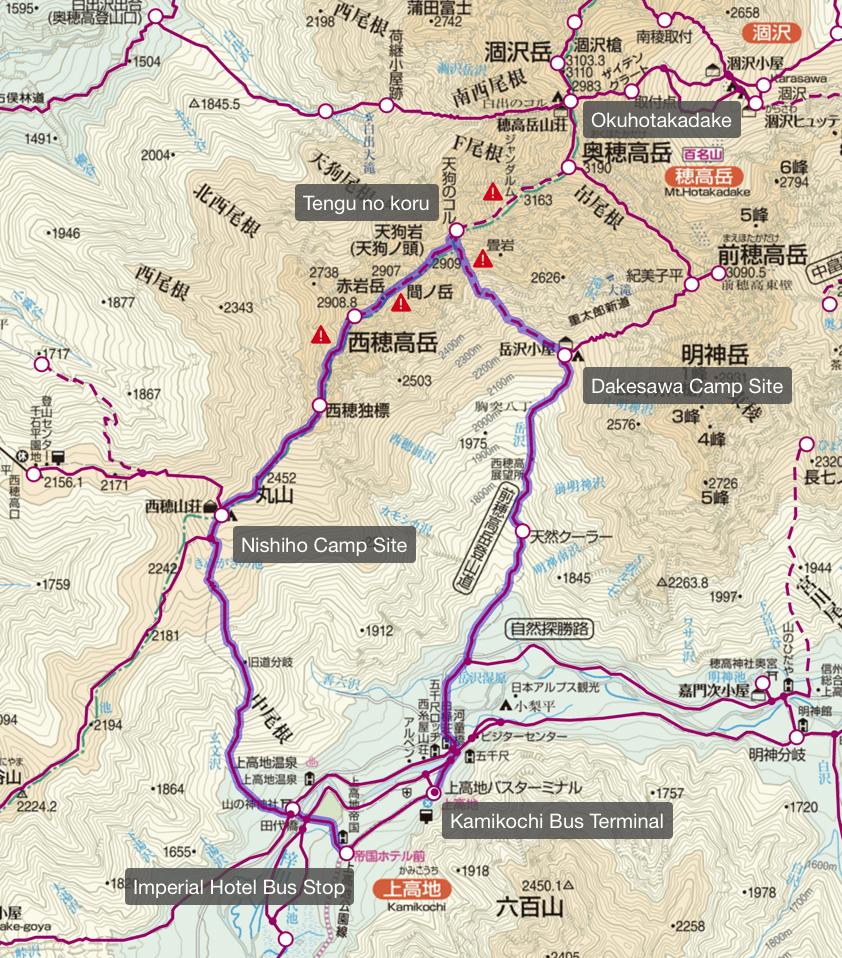 Hotakadake Map