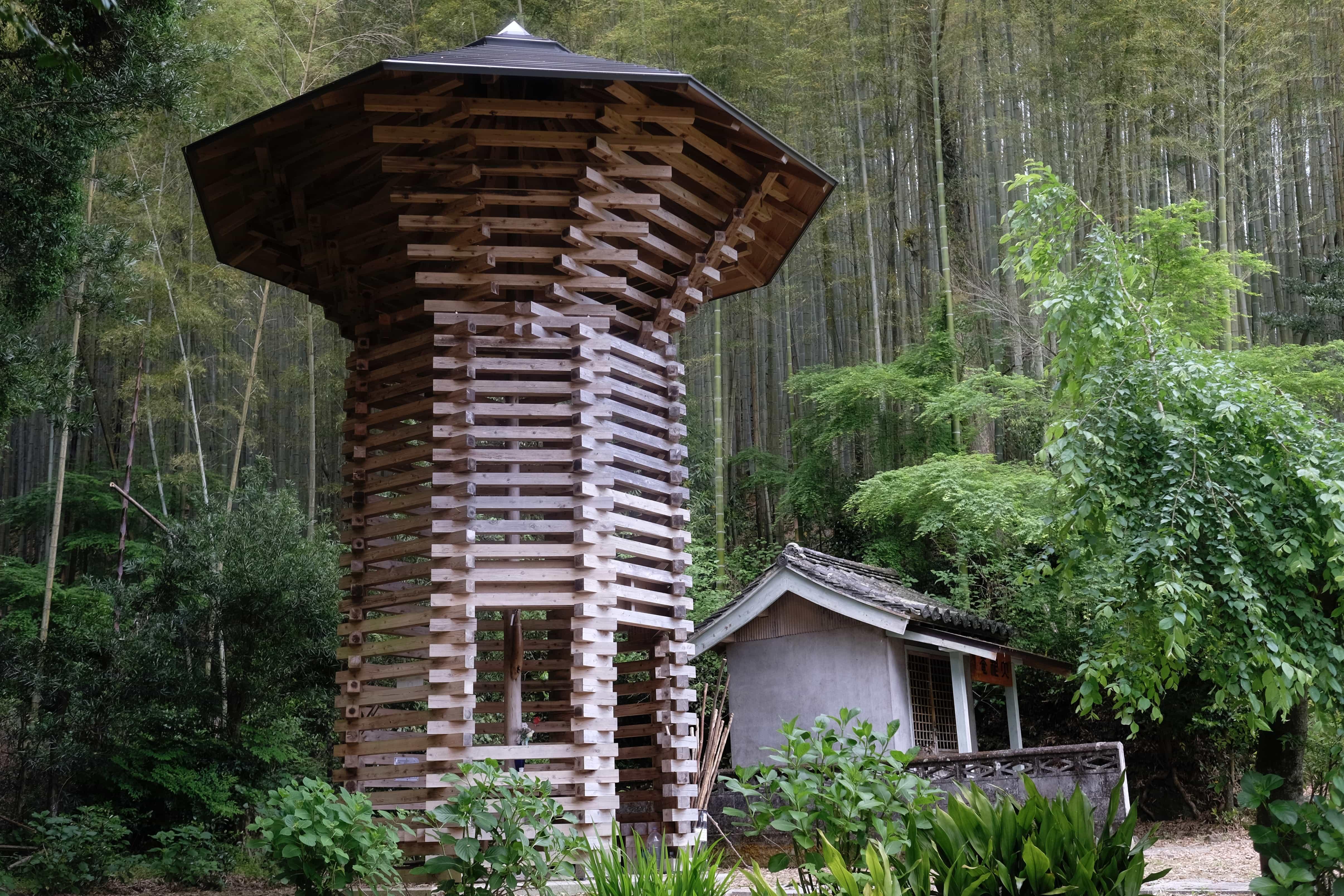 Wooden henro hut