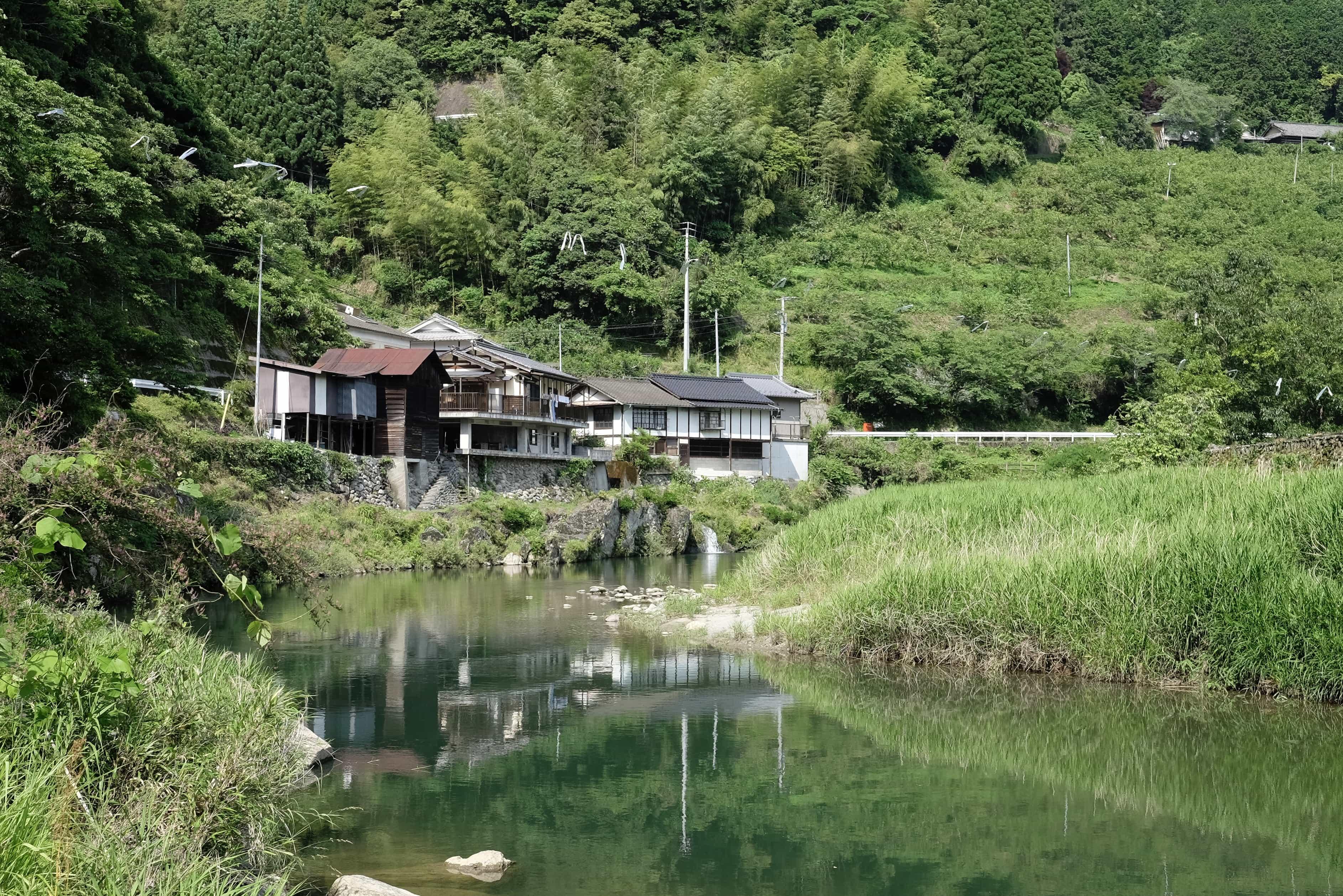 Village beside Rakusui Daishi