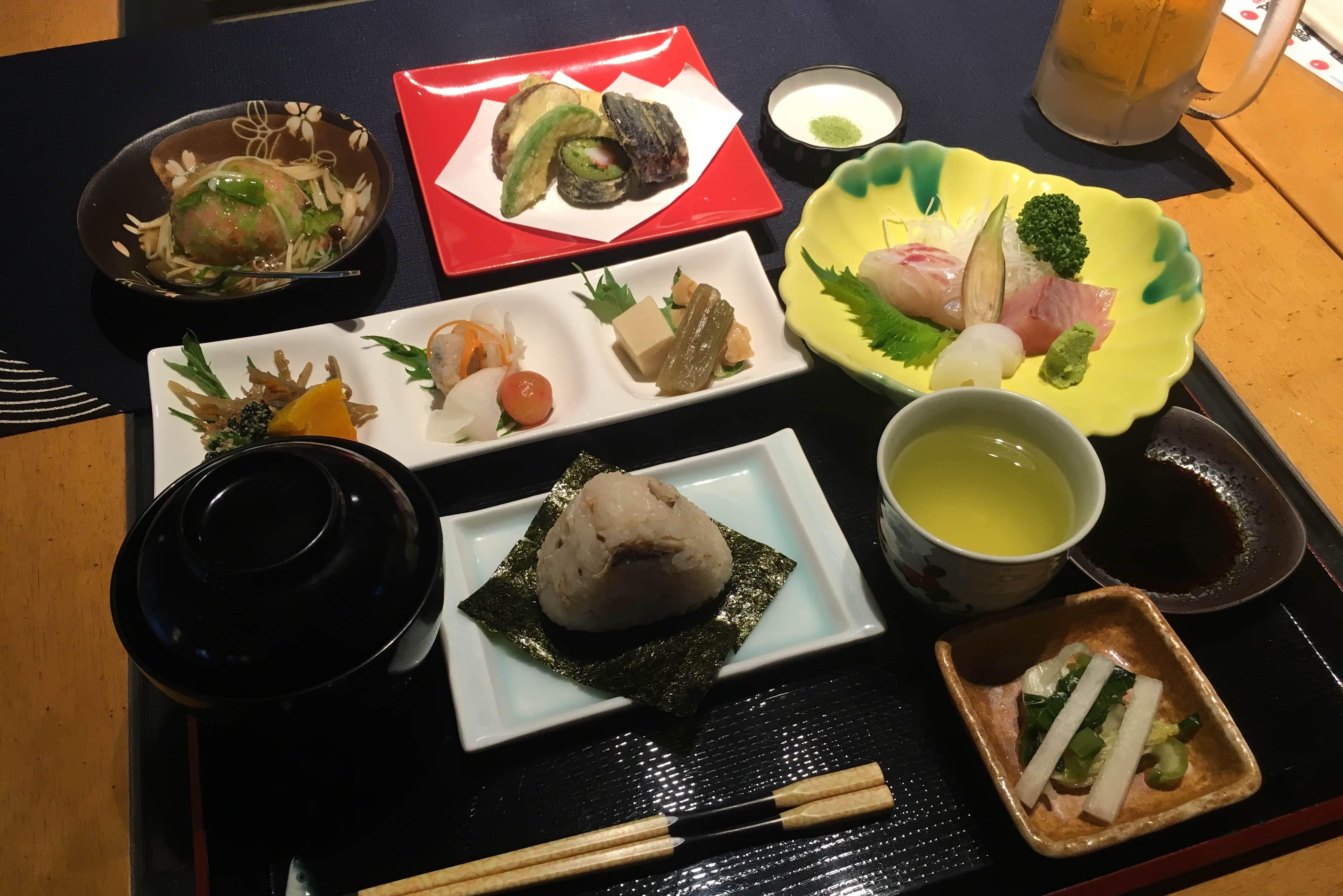 Dinner at Yunotani Onsen