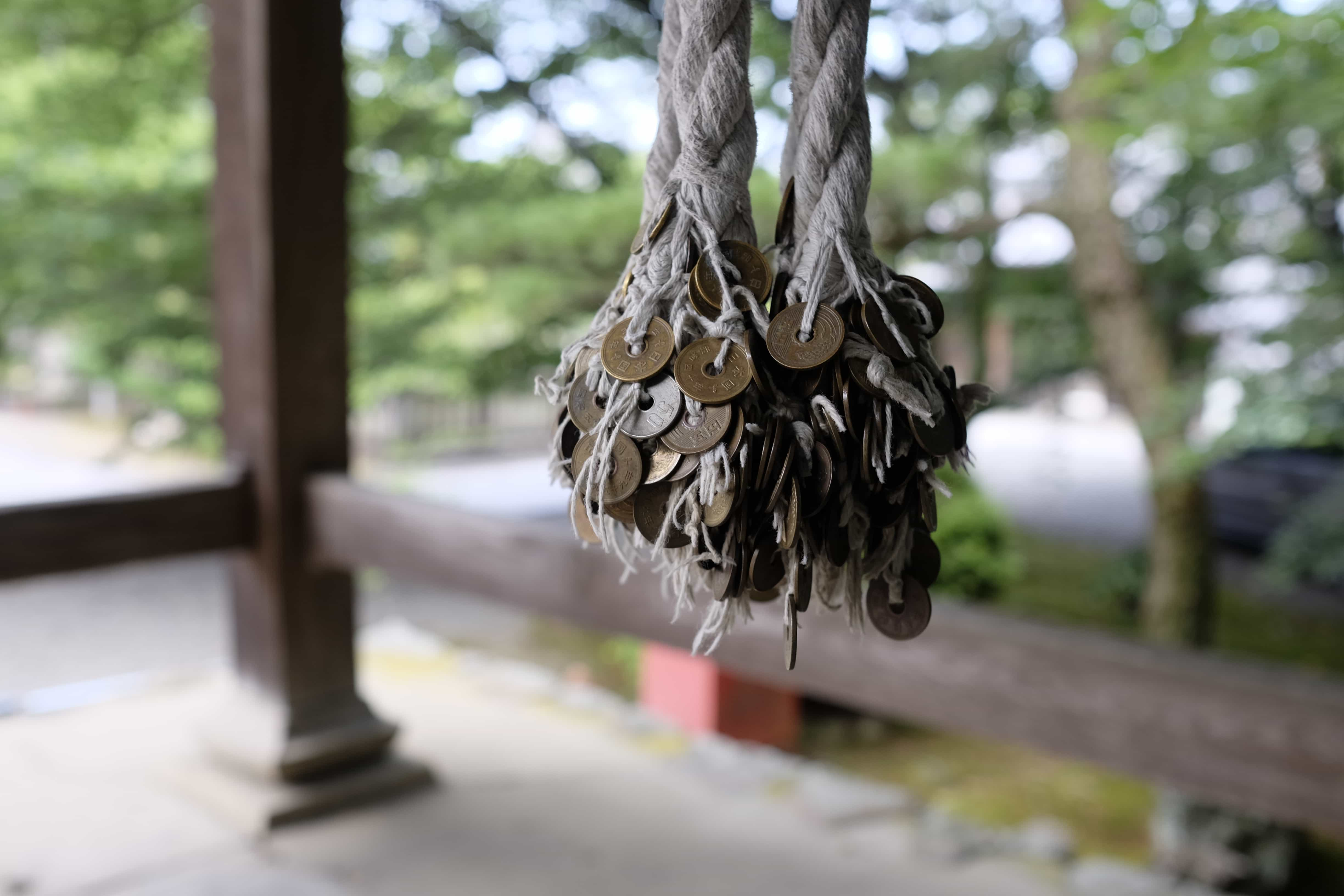 Bell rope at Daikō-ji