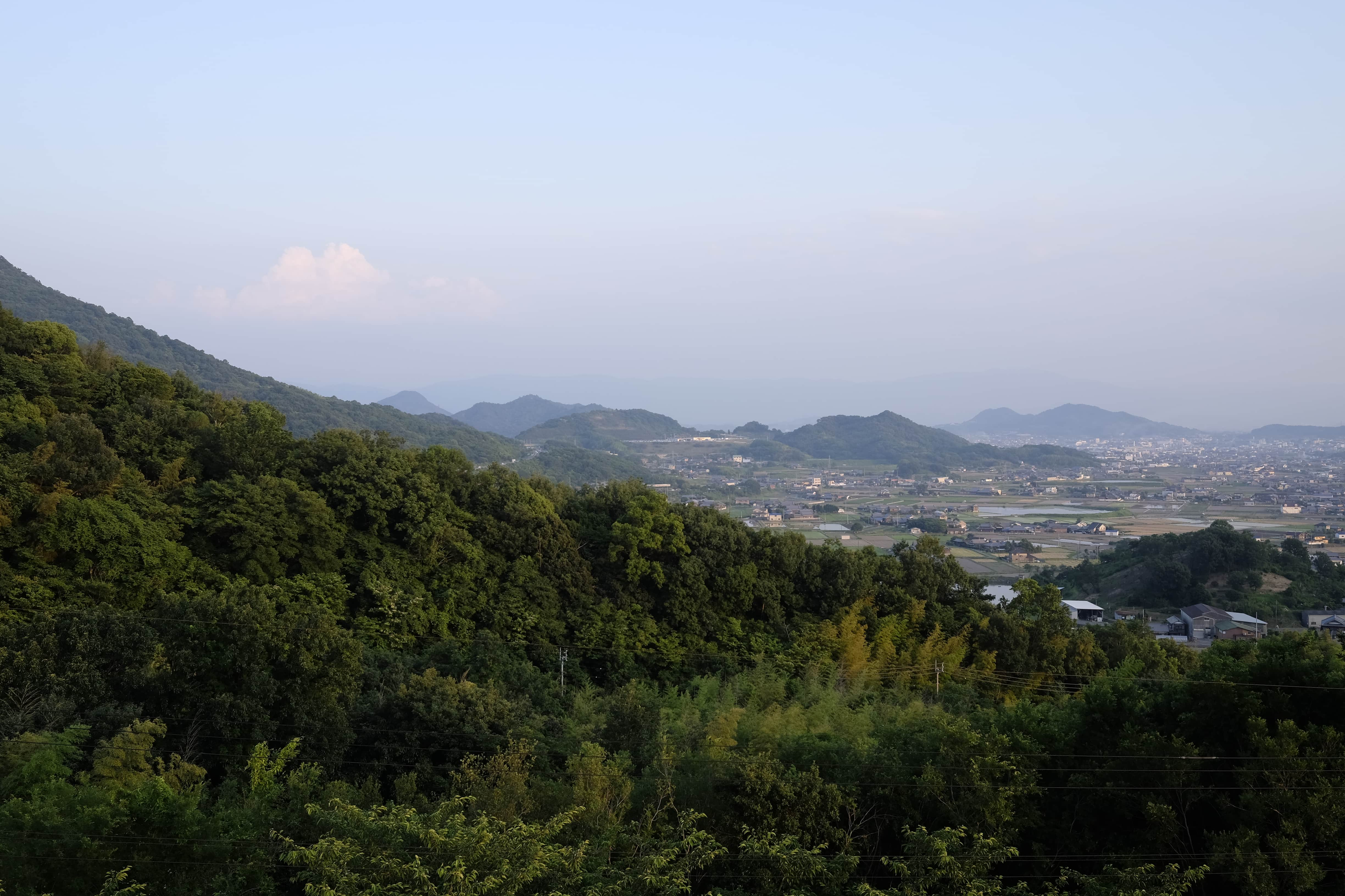 View from Fureai Park Min