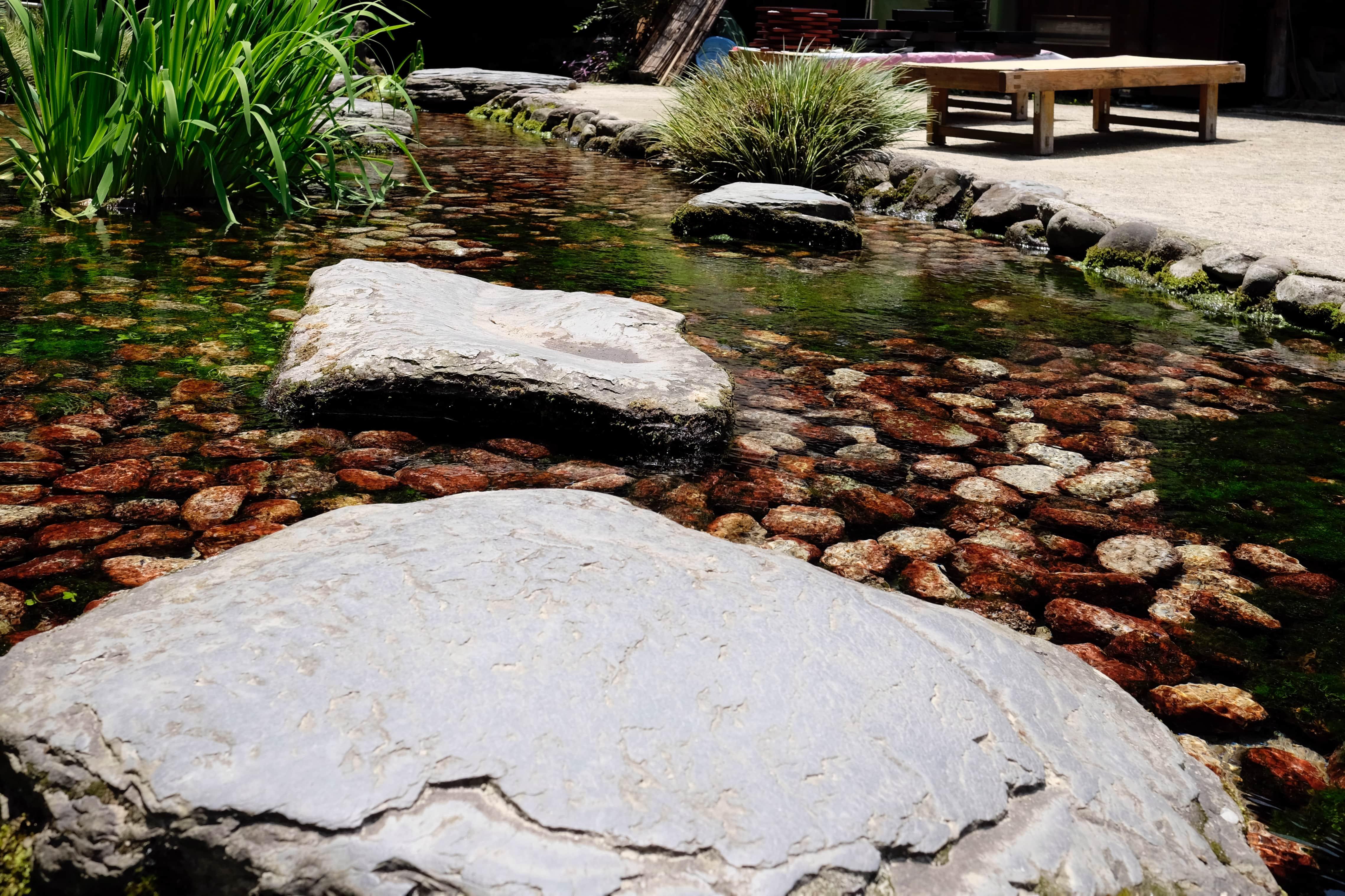 Fukiage-tei stepping stones