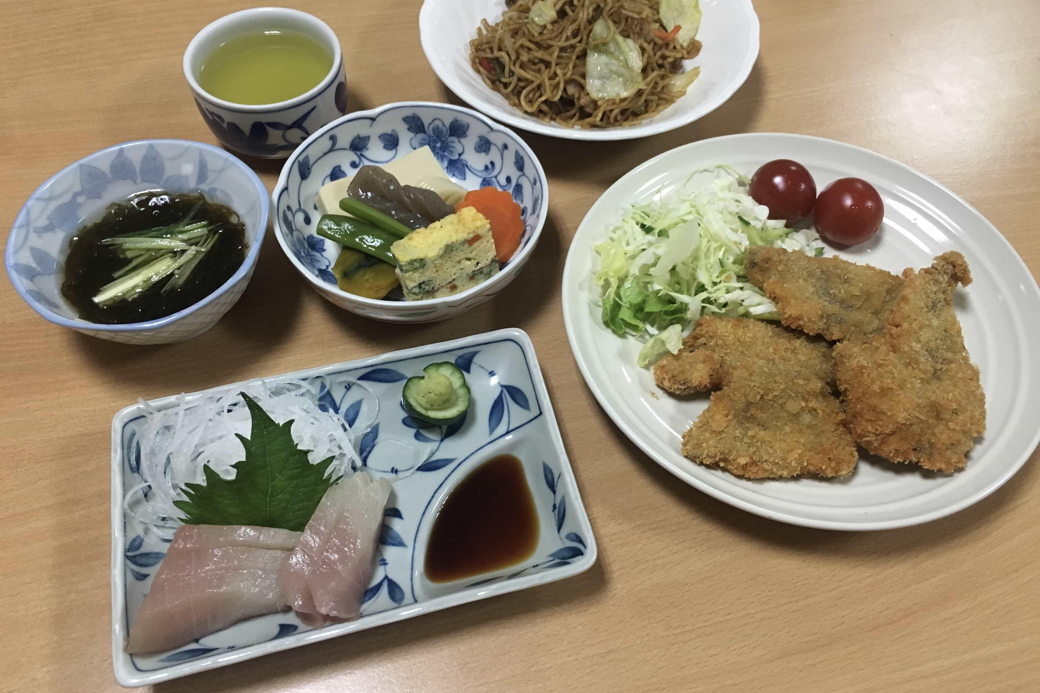 Dinner at Nagao-ji Minshuku