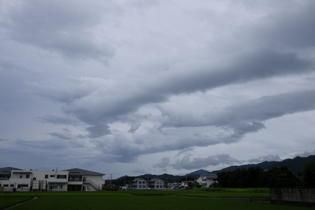 Swirling clouds over Sanuki