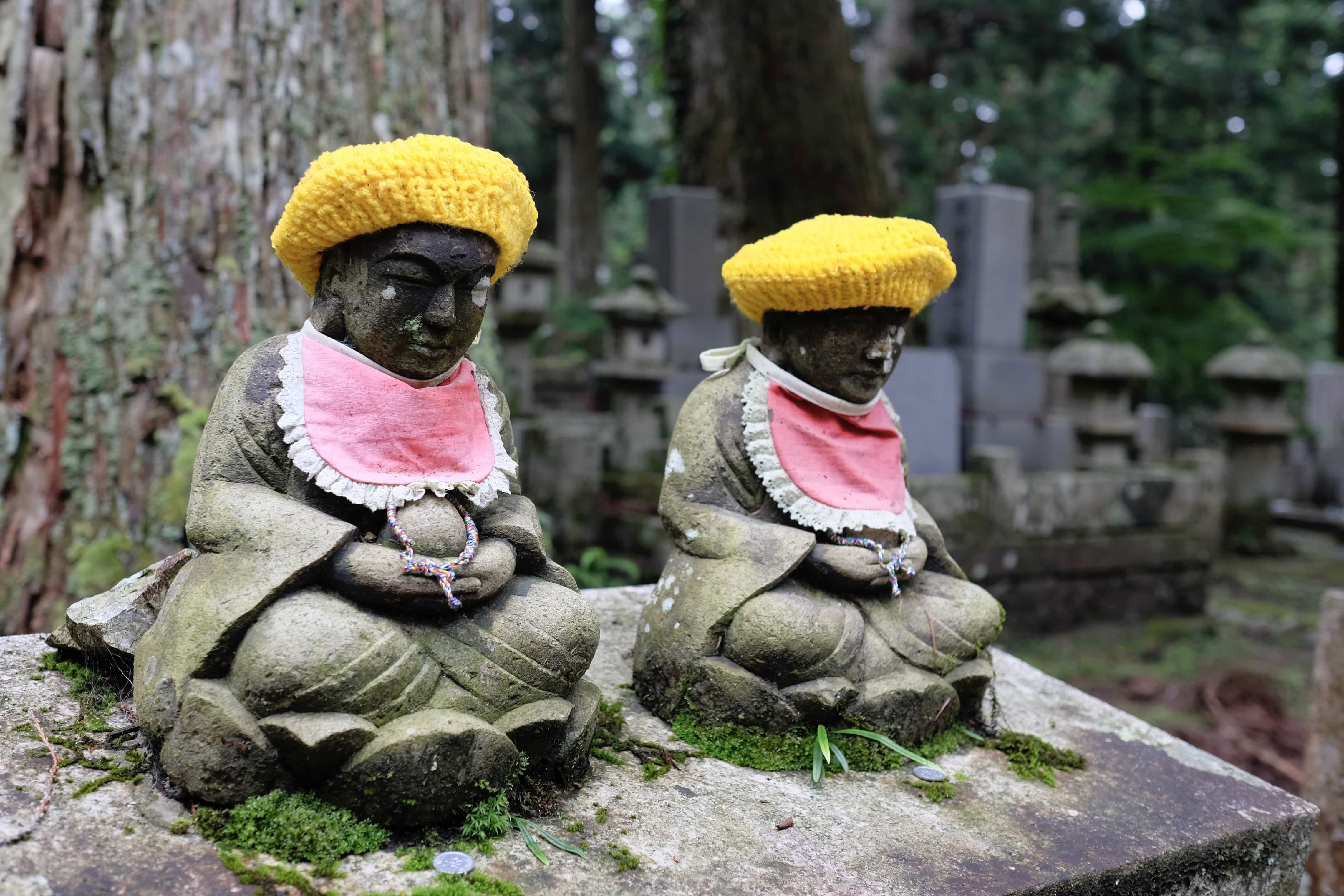 Statues in Okunoin Cemetery