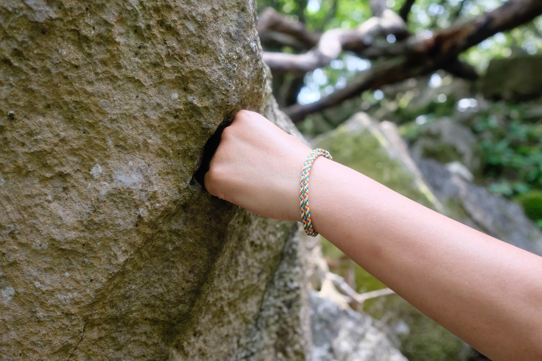 Rock meets hand