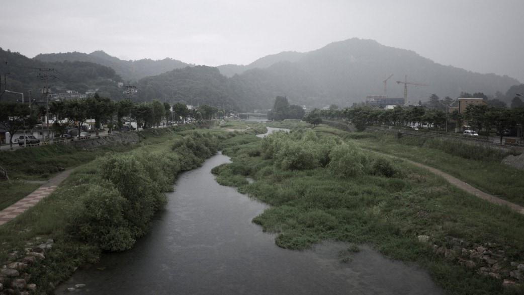 Jeonju River in the Rain