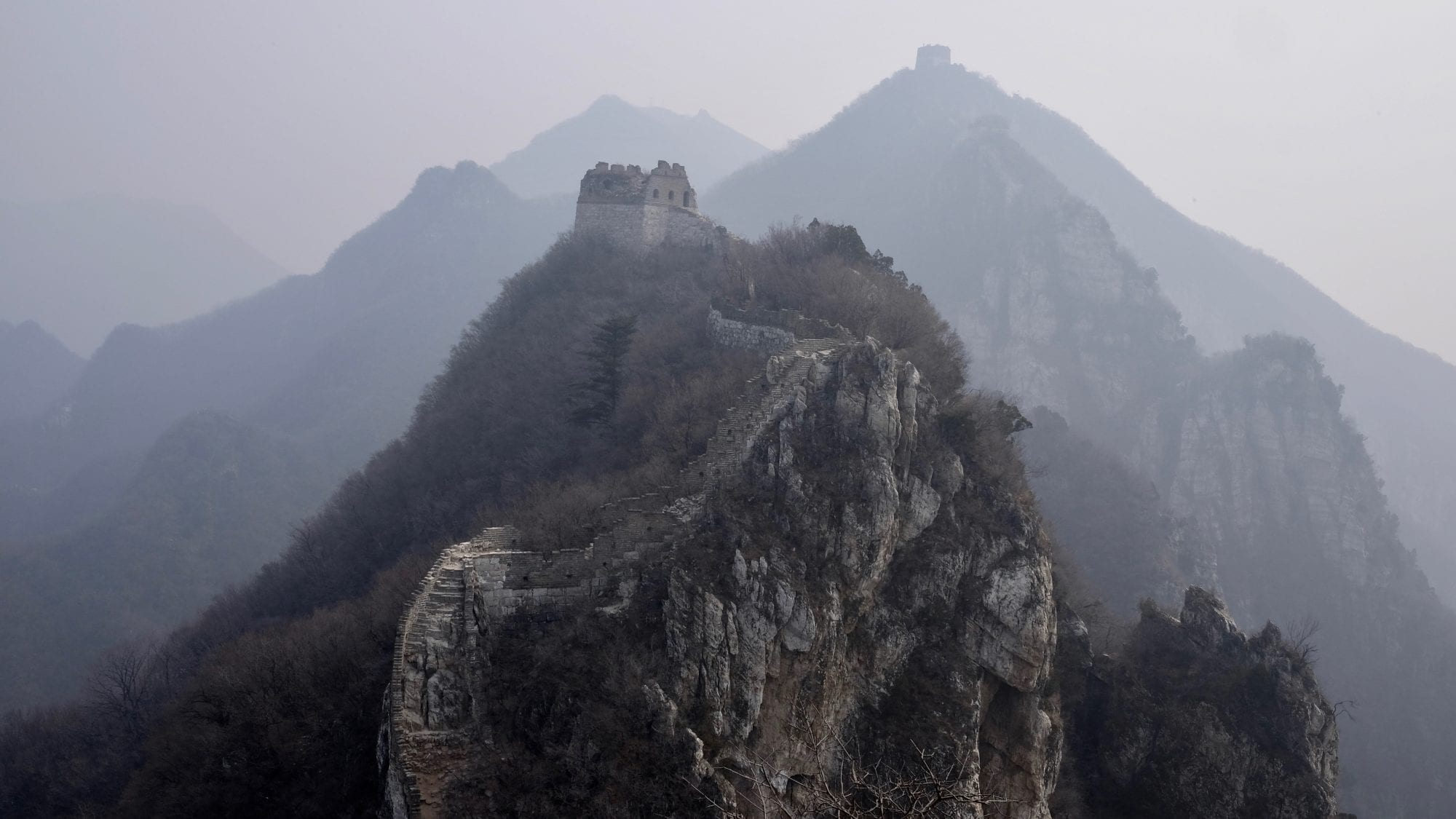 Unred Section Of The Great Wall