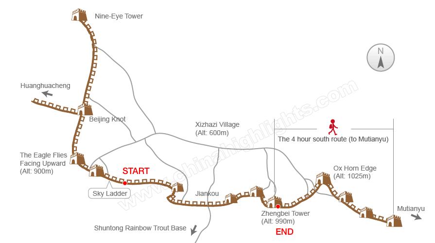 Traversing An Unrestored Section Of The Great Wall At Jiankou Ç®æ‰£ Beijing China Randomwire