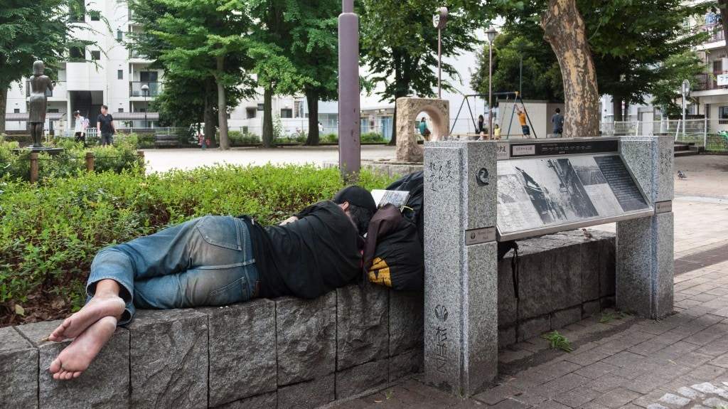 Sleeping in Koenji Park