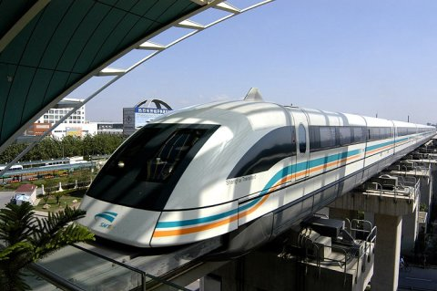 Super Fast Shanghai Transrapid Maglev Train