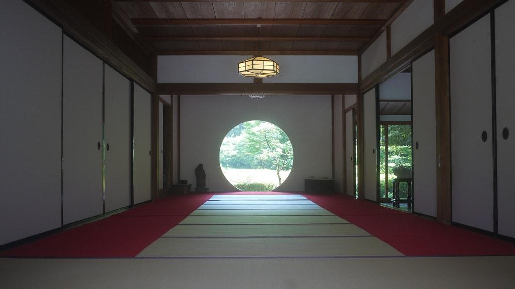 Meigetsuin Temple Circular Window