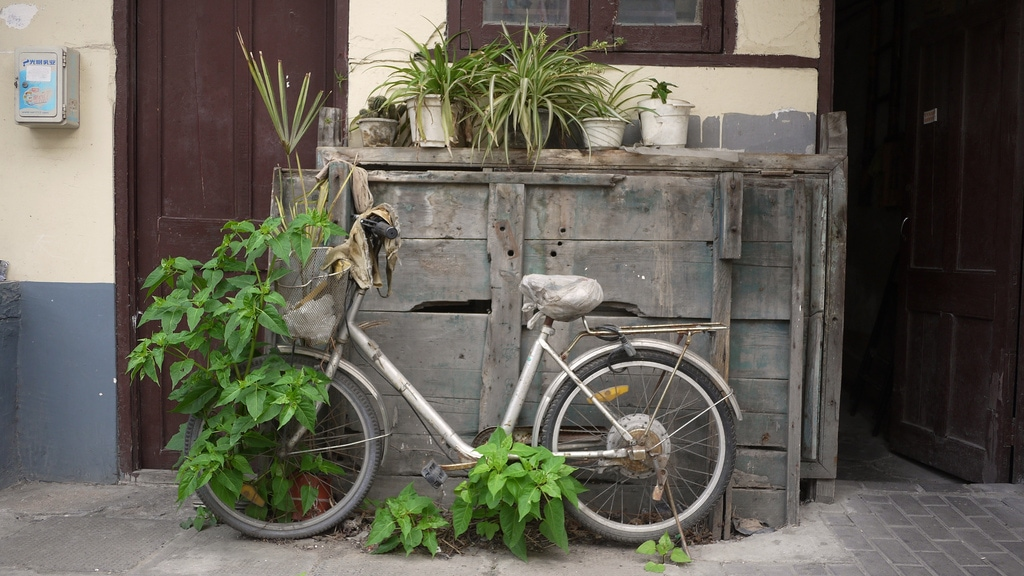 Old Bicycle in Shanghai