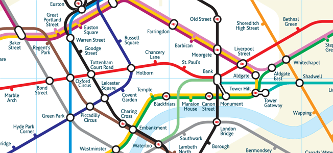Mark Noad Proposed Tube Map Design