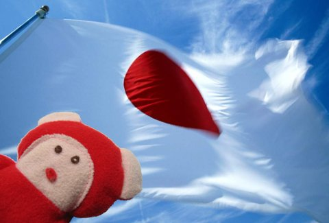 Red Ted, Japan Flag