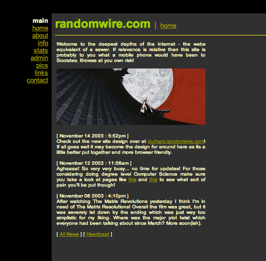 Randomwire Design in 2003