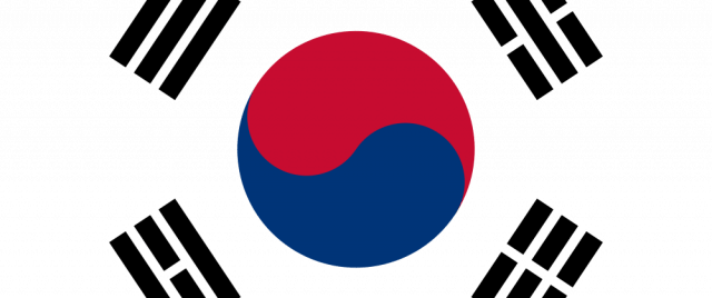 South Korea Flag1 640x268 Png