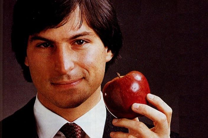 Steve Jobs with an apple
