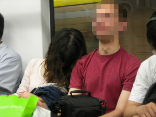 Sadako on Seoul Subway