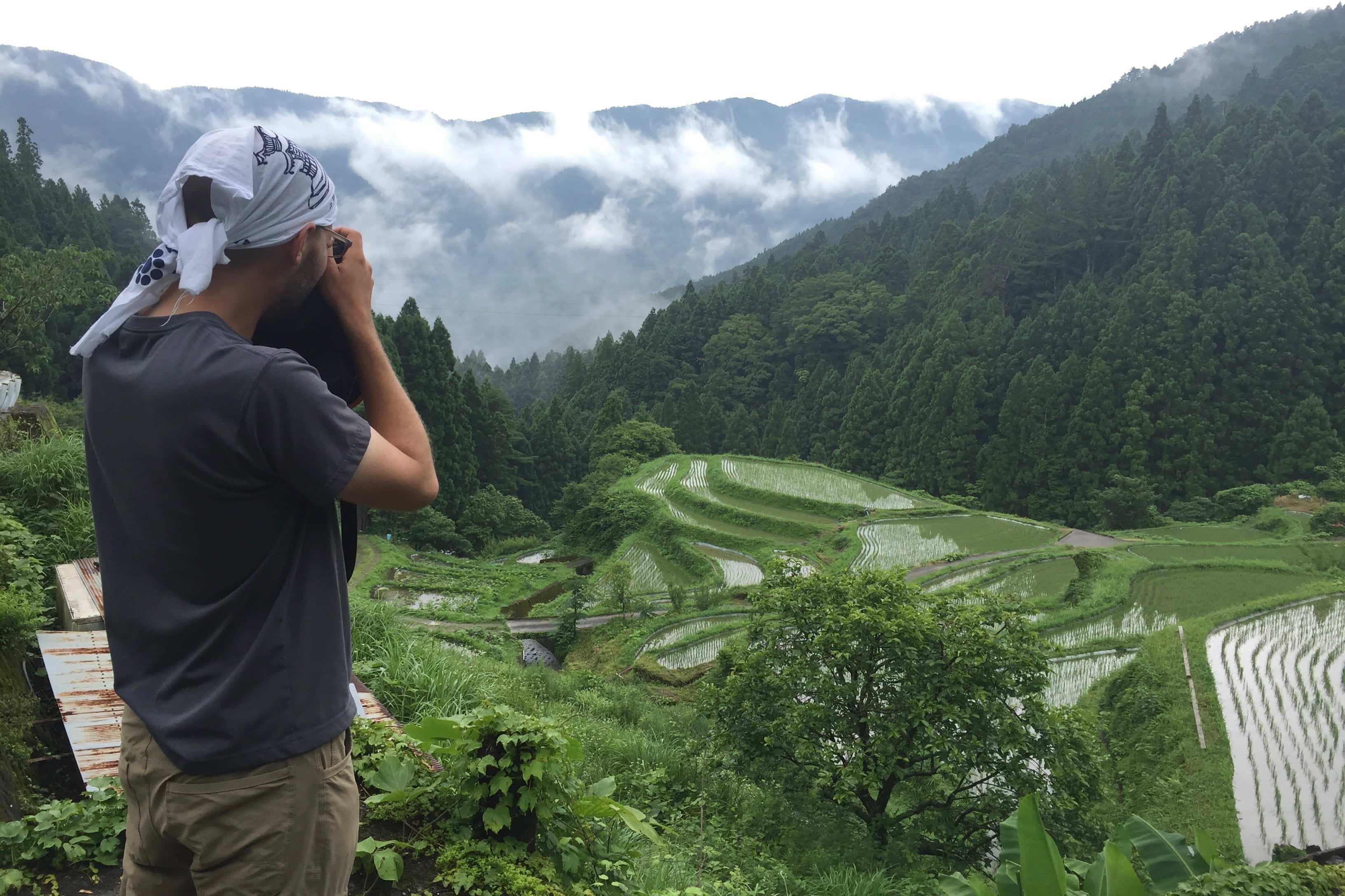 Photographing Rice Paddy's