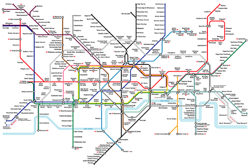 London Underground Tube Map 2004