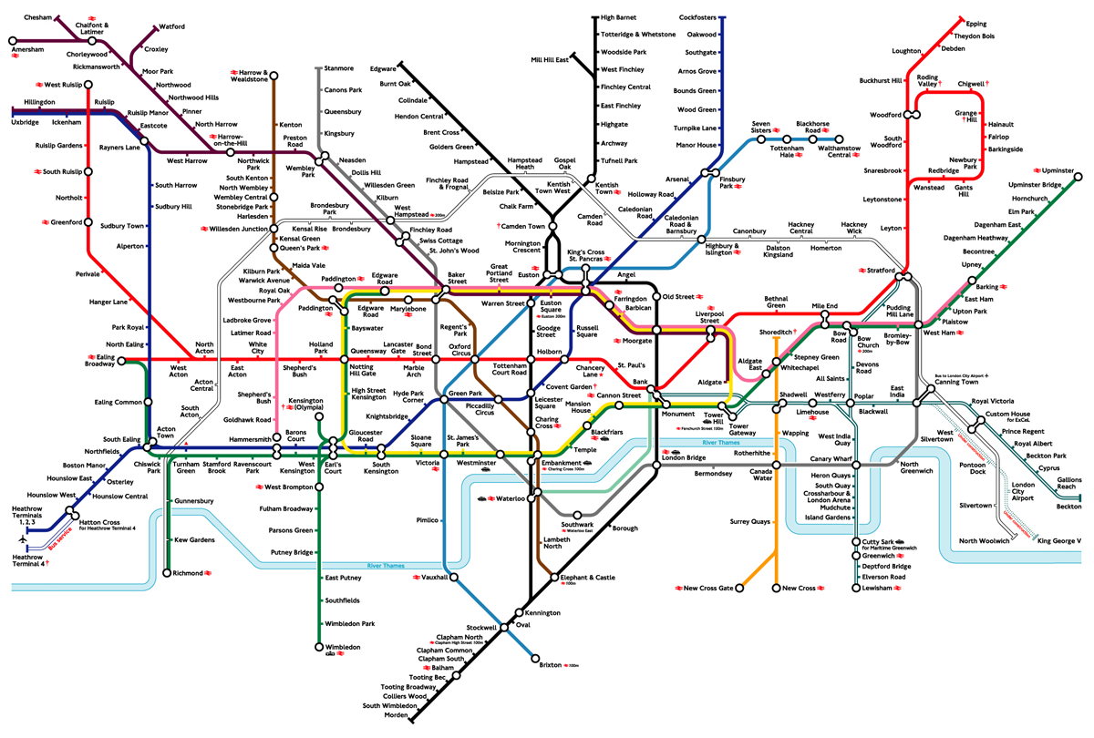 How To Ruin A Design Classic ~ The New London Underground Tube Map